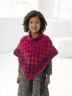 Striped Poncho is a Crochet pattern. cm), poncho will lengthen whe Crochet Poncho With Sleeves, Crochet Baby Poncho, Crochet Poncho Patterns, Crochet Girls, Crochet For Kids, Crochet Shawl, Knit Crochet, Crochet Lion, Crochet Things