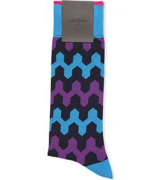 Add a vintage kick to your outfits with Duchamp's zig zag pattern socks. Featuring fun colours and crafted from a soft cotton blend these socks give you an extra stylish point. Sexy Socks, Patterned Socks, Zig Zag Pattern, Colours, Crafts, Vintage, Winter Time, Socks, Men