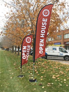 Need flags to get your event noticed? This great set by Speedpro Imaging Burloak. Call them today and order yours! Outdoor Signage, Flags, You Got This, House, How To Get, Prints, Products, Exterior Signage, Home