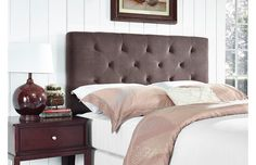 Give your bedroom a suite update with our affordable array of eye-catching headboards. Button-tufted linen adds a splash of sophistication, while nailhead trim is always eye-catching. And with lots of calming colors in the mix, it's easy to find a headboard that matches your style.http://www.wayfair.com/daily-sales/Headboards-Under-%24149~E12953.html?refid=SBP.rBAZEVNTRBp7mxJ9DTV0Alk7yBelckjyjoGAELygzKc