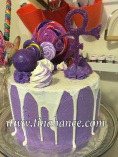 Prince cake Prince Cake, Prince Party, Birthday Candles, Birthday Cake, Prince Of Pop, Paint And Sip, Purple Rain, Themed Cakes, Cupcake Cakes