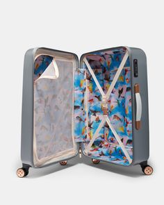 Mirrored Minerals medium suitcase - Mid Grey | Bags | Ted Baker UK