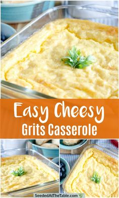 Every home cook needs a baked cheese grits casserole recipe in their collection. This one is mine and it is SO GOOD! These cheesy grits are great with breakfast or ANY meal! Breakfast Dishes, Breakfast Casserole, Breakfast Recipes, Breakfast Ideas, Brunch Ideas, Grits Breakfast, Second Breakfast, Breakfast Time, Brunch Recipes