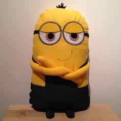 Handmade minion pillow toy softie