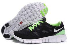 Vente Parfaite Nike Free Run 2 Homme Noir Vert