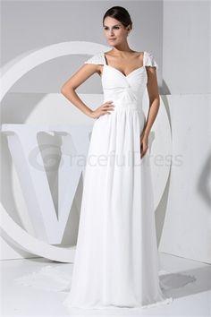 White Zipper-back Beading Beach/ Destination A-Line Wedding Dress  http://www.GracefulDress.com/White-Zipper-back-Beading-Beach-Destination-A-Line-Wedding-Dress-p19330.html