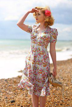 Tara Starlet Sweetheart dress size 14 brand new, 1940s style, WW2, pinup | eBay