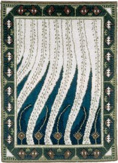 Probably the most famous finnish rya rug Liekki by Gallen-Kallela. Designed in 1900! Photo by Suomen Kästyön Ystävät