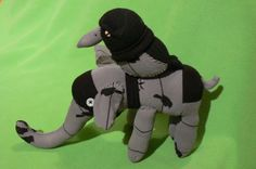 Sock Elephant and Crow Made to Order by POST by katarinathorsen, $60.00