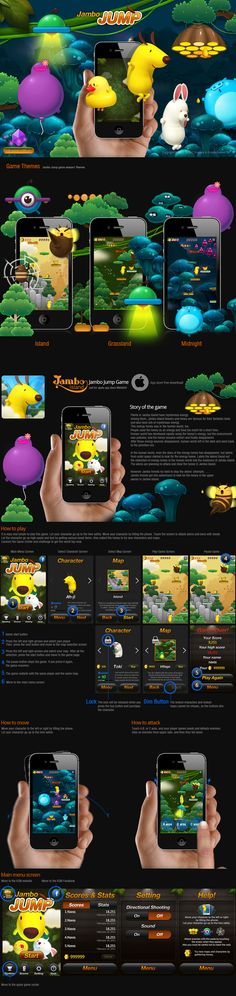 Jambo Jump _ iPhone Game by KON , via Behance