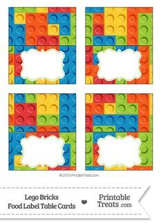 Lego Bricks Food Labels from PrintableTreats.com
