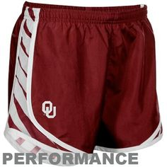 Nike Oklahoma Sooners Ladies Crimson Striped Tempo Performance Shorts