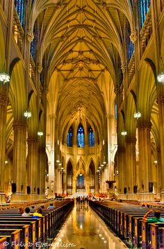 St. Patrick's Cathedral NYC It was being renovated in Dec 2012 and August 2013.  Still gorgeous.