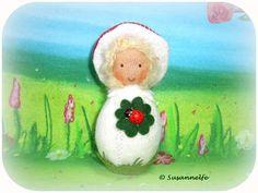 Glückspilz Blumenkinder Jahreszeitentisch von Susannelfes Blumenkinder  auf DaWanda.com