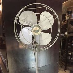 With the temp at 93 (and here in Virginia, it is NOT a dry heat!) we're all about keeping cool. This awesome Victron pedestal fan is a great way to stay cool and keep your style intact. $195 This is one of a number of fab, restored and working fans we have store. (If you just want form, no function, we have those too!) #antique #vintage #retro #fan #victron #formandfunction #midcentury #itsgettinghotinhere #rva #va #summertime #interiordesign #homedecor #summertimestyle