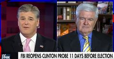 Gingrich agrees with Hannity that a pending WikiLeaks revelation may have driven Comey to reopen the case. They join Podesta's insincere call for release by