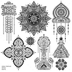 Buy Set Of Aztec Tribal Elements And Symbols by transiastock on GraphicRiver. Set of isolated ornamental tribal elements and symbols Mayan Tattoos, Aztec Tribal Tattoos, Aztec Art, Viking Tattoos, Turtle Tattoos, Geometric Tattoos, Tattoo Artists Near Me, Famous Tattoo Artists, Skull Hand Tattoo