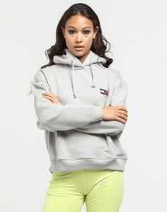 Shop the new Tommy Jeans Women's collection now available at Culture Kings. Featuring classic cuts, colours, iconic branding and a proven track record spanning three decades, this side of Tommy Hilfiger offers a modern twist to an iconic timeless brand. Culture Kings, Patched Jeans, Jeans Women, Jeans Brands, Grey Hoodie, Size Model, Hooded Jacket, Tommy Hilfiger, Badge