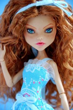 Custom Monster High Cleo de Nile OOAK Repaint by SkulletteDolls