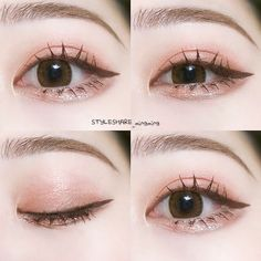 Makeup Inspo, Makeup Inspiration, Makeup Tips, Beauty Makeup, Korean Makeup Look, Asian Eye Makeup, Cute Makeup, Makeup Looks, Korean Eyeshadow
