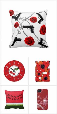 I Love Red! #Zazzle #Red