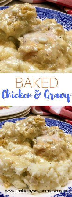 Baked Chicken and Gravy is an easy, budget-friendly, and delicious dinner. The meal is a true comfort-food for any occasion.