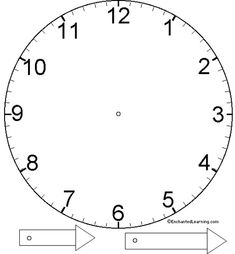 Free clock printable for teaching time at Excuse Me Mrs C! Teaching Time, Teaching Tools, Teaching Math, Maths, Clock Template, Face Template, Clock Face Printable, Enchanted Learning, Clock Craft