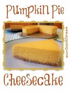 Pumpkin Spice Cheese Cake. Gluten Free, Dairy Free, Egg Free.