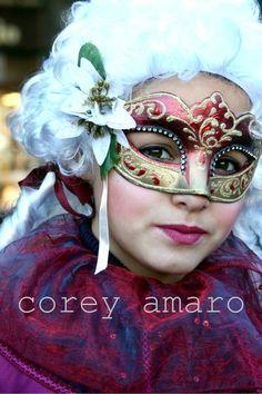 Corey Amaro at the Venetian carnival