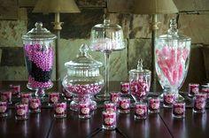 Sweet 16 Candy Centerpiece Ideas | Pink + Zebra Sweet Sixteen