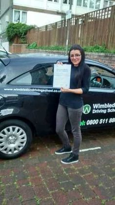 Well done to Carina from #Battersea who passed her test in Morden.
