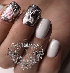 #naildesign #nailart #rosenail #elegantnailart #floralnail