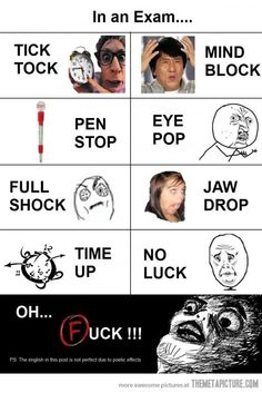 Ahahahaha!!! The pen stopping!!! Today I was taking my history test on a scantron and halfway through my mechanical pencil stopped working...so I took out the lead was just filling out the answers with that for like 10 minutes before my teacher comes around and hands me a new pencil xD
