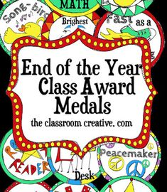 End of the Year Award Medals: a wearable way for your students to celebrate their accomplishments!