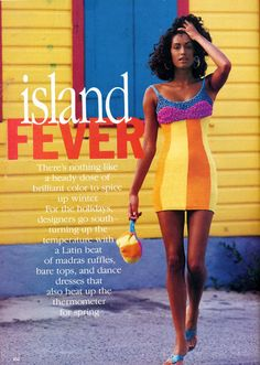 'Island Fever' from…………Vogue December 1991 feat Yasmeen Ghauri