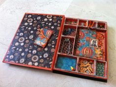 Inside of Aideen Fallon's altered Steampunk Spells box and mini #graphic45 #alteredart #mixedmedia