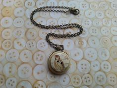 owl layered handmade button necklace on a 18 by maxollieandme, £7.00