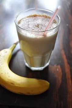 A mind blowingly good Protein Shake.      -small banana  -1 cup unsweetened almond milk (buy this stuff people! it's like $3...)  -vanilla protein (1 scoop)  -1/2 tbsp cocoa powder