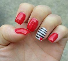 Classy valentine nails