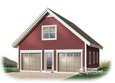 Sheds by home depot 2 story house two story two car for Small two car garage