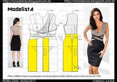 Easy Sewing Patterns, Coat Patterns, Clothing Patterns, Make Your Own Clothes, Diy Clothes, Costura Fashion, Sewing Alterations, Wedding Dress Patterns, Modelista