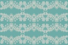 French Floral Pattern by Marguerite Crooks #margueritecrooks #pattern #design #fabric #walllpaper #teal