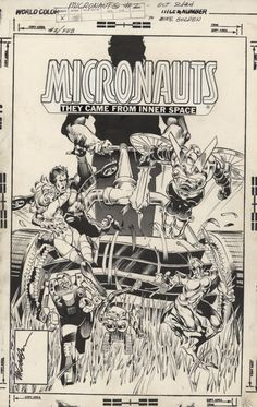 """travisellisor: """"the cover to Micronauts by Michael Golden and Joe Rubinstein """" Comic Book Pages, Comic Page, Comic Book Artists, Comic Book Covers, Comic Artist, Best Comic Books, Comic Books Art, Marvel Comics Art, Anime Comics"""