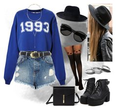 """1993"" by swagwhitglamour ❤ liked on Polyvore featuring Yang Li, MSGM, River Island, BCBGeneration, Iosselliani, Yves Saint Laurent and Forever 21"