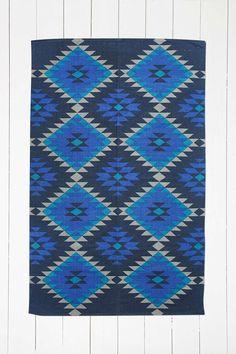 Austin Diamond 4x6 Blue Rug