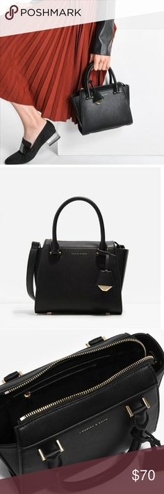 Charles & Keith Solid Rivet Brand: Charles & Keith Condition : New without tags Materials: Faux Leather  Style: Messenger & Cross body Flap chain bags  Size:L x 12. Inches          H x 7.2          W x 4.5 charles & keith Bags Mini Bags