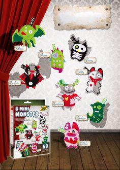 Mini-Monsterfreunde im Kleinformat für Schlüsselanhänger, Taschen, Handys und vieles mehr. Mehr unter http://www.folia.de/epaper/folia_hauptkatalog_2013_2014/catalog_4267386/index-sd.html#/22