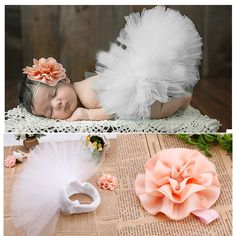 0-6 Months Baby Girls photo props Flower headwear 67