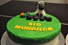 Eid cake with sheep topper