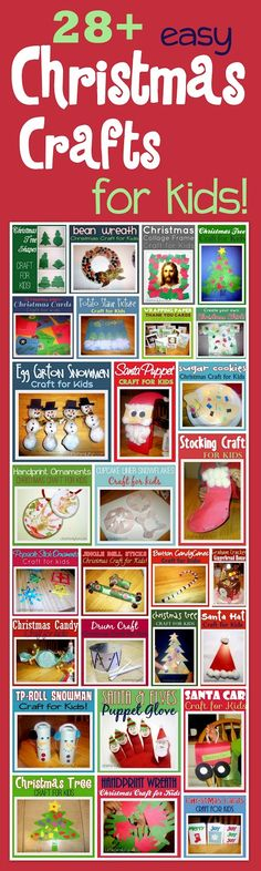 Christmas Crafts for kids, preschoolers